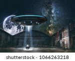 Small photo of Photo manipulation, alien abduction