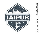 jaipur india travel stamp icon... | Shutterstock .eps vector #1066265804