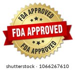fda approved round isolated... | Shutterstock .eps vector #1066267610
