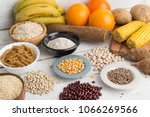 carbohydrates  assortment food | Shutterstock . vector #1066269566