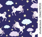 cute seamless pattern with... | Shutterstock .eps vector #1066278920