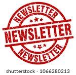 newsletter round red grunge... | Shutterstock .eps vector #1066280213