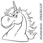 black and white magic unicorn... | Shutterstock . vector #1066281119