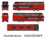 bus vector mock up isolated... | Shutterstock .eps vector #1066281869