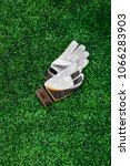 gloves of the goalkeeper ... | Shutterstock . vector #1066283903