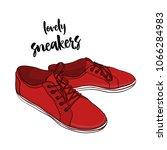vector illustration of sneakers ... | Shutterstock .eps vector #1066284983