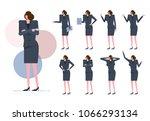 business woman set.  worker... | Shutterstock .eps vector #1066293134