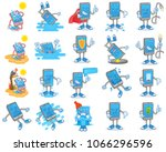 big set icon with different... | Shutterstock .eps vector #1066296596
