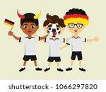 fan of germany national... | Shutterstock .eps vector #1066297820