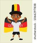 fan of germany national... | Shutterstock .eps vector #1066297838