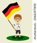 fan of germany national... | Shutterstock .eps vector #1066297850