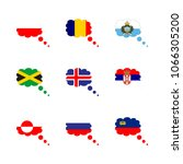 icon flag with san marino ... | Shutterstock .eps vector #1066305200