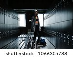 a beautiful fit young woman ...   Shutterstock . vector #1066305788