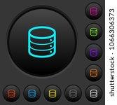 single database dark push... | Shutterstock .eps vector #1066306373