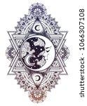 decorative ornate vintage boho... | Shutterstock .eps vector #1066307108