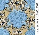 spring vintage floral... | Shutterstock .eps vector #1066312349