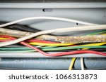 damage of cable wire from rat... | Shutterstock . vector #1066313873