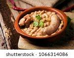 closeup of an earthenware bowl... | Shutterstock . vector #1066314086
