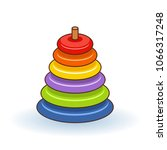 pyramid icon. childrens...   Shutterstock .eps vector #1066317248