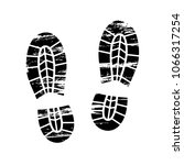 footprints and shoeprints icon... | Shutterstock .eps vector #1066317254
