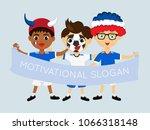 fan of france national football ... | Shutterstock .eps vector #1066318148