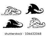 ancient griffins | Shutterstock .eps vector #106632068