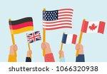 vector cartoon illustration of... | Shutterstock .eps vector #1066320938