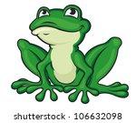 funny green frog | Shutterstock .eps vector #106632098