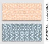 seamless horizontal borders... | Shutterstock .eps vector #1066323836