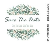 save the date card with white... | Shutterstock .eps vector #1066331303