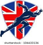 retro illustration of a runner... | Shutterstock .eps vector #106633136