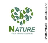 nature logo icon vector | Shutterstock .eps vector #1066333370