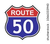 us route 50 sign  shield sign... | Shutterstock .eps vector #1066333940