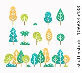 different trees and bushes set. ... | Shutterstock .eps vector #1066345433