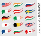 hand drawn flags of the world... | Shutterstock .eps vector #1066348583