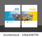 cover design for annual report... | Shutterstock .eps vector #1066348796