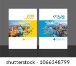 cover design for annual report... | Shutterstock .eps vector #1066348799