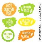 gluten free vector icon. | Shutterstock .eps vector #1066355243