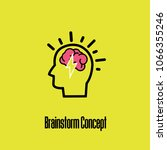concept of brainstorming or... | Shutterstock .eps vector #1066355246