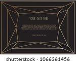 gold polygonal frame on a black ...   Shutterstock .eps vector #1066361456