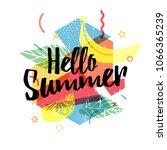 design print for summer season. ... | Shutterstock .eps vector #1066365239