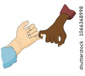 pinky swear. white and black... | Shutterstock .eps vector #1066368998