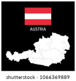 map and national flag of... | Shutterstock .eps vector #1066369889