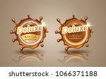 set of deluxe design labels in... | Shutterstock .eps vector #1066371188