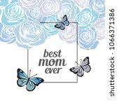 happy mother's day greeting... | Shutterstock .eps vector #1066371386