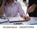 female subordinate receiving...   Shutterstock . vector #1066372496