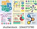 business infographics circle...   Shutterstock . vector #1066373780