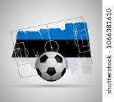 estonia flag soccer background... | Shutterstock . vector #1066381610