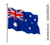 Flag Of Australia  Vector...