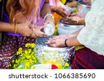 thai people celebrate songkran...   Shutterstock . vector #1066385690
